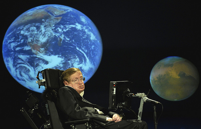 stephen hawking nasa 50th, Photo by Nasa HQ