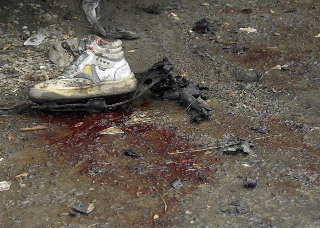 remains of suicide bomber, kabul, afghanistan, photo by us air force tech sergeant brenda nipper