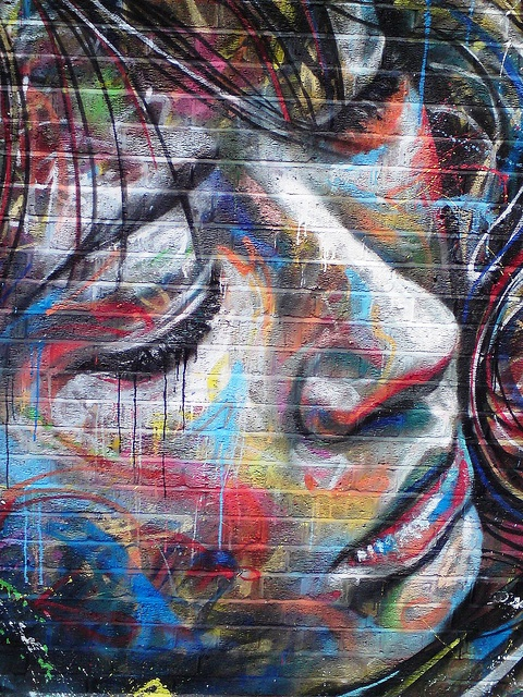 Crying Girl, Photo by London Street Art