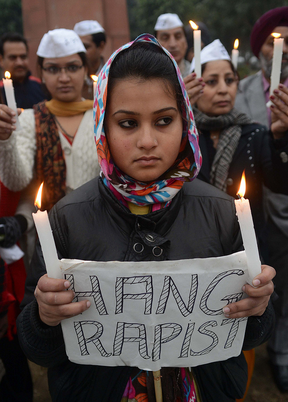 India's Aam Aadmi Party Protest Rape Epidemic