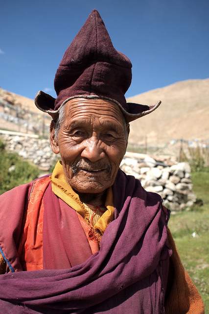 Tibetan Monk, Photo by Romain Barrabas