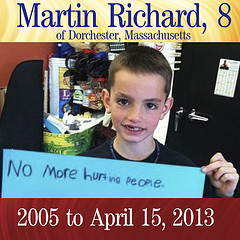 Martin Richard, 8-year-old victim of Boston Terrorist Bombing, Photo by Peter Boston