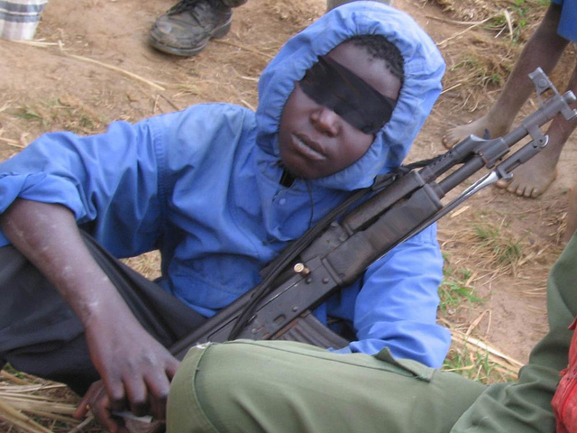 DRC Child Soldier, Photo by Children and Armed Conflict