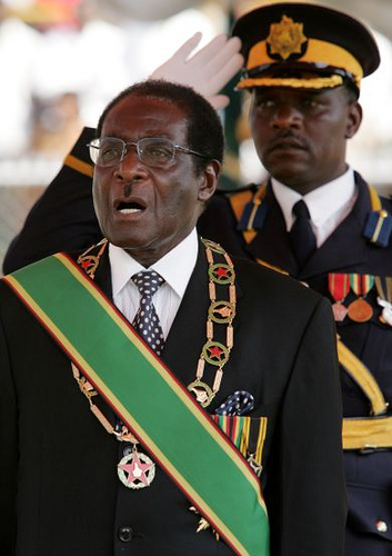 President Robert Mugabe, Zimbabwe, Photo by Abayomi Azikiwe