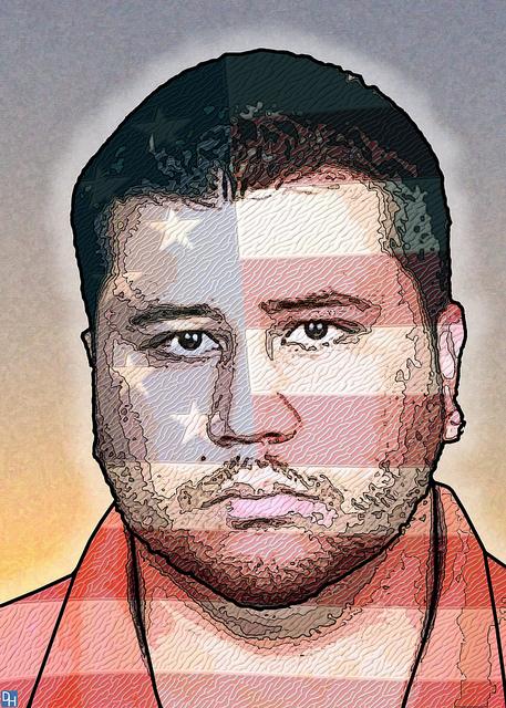 George Zimmerman, Racist Vigilante, Image by Donkey Hotey