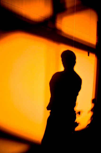 Silhouette of Man Against Wall, Photo by Bell Yanz
