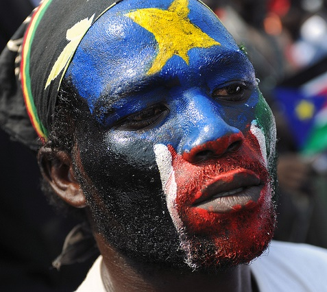 South Sudanese Man Celebrates Independence, Photo by United Nations Peacekeeping