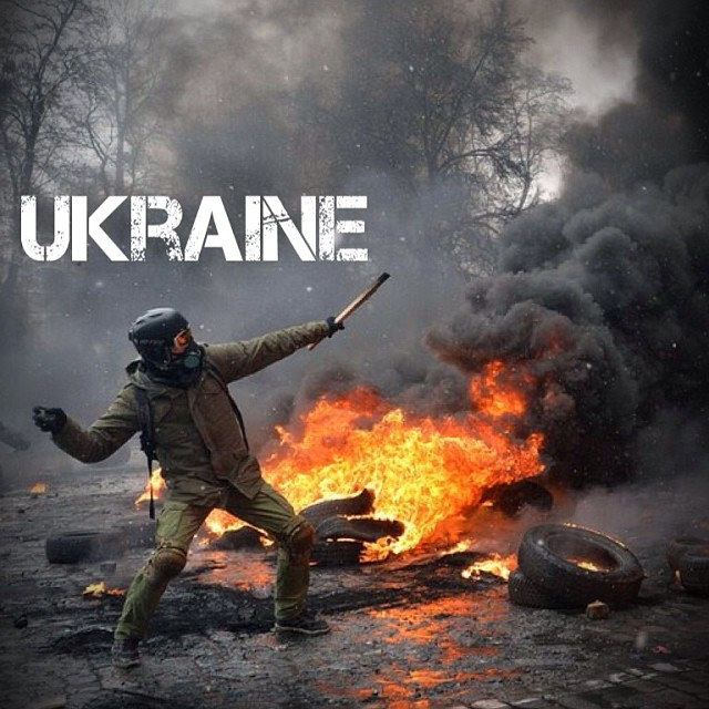 Ukrainian Riots , Independence Square, Kiev, Photo Courtesy of The Global Movement