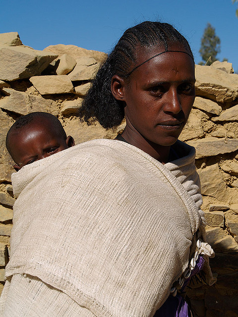 Atsbi village, Tigray, Christian Woman, Photo by Evgeni Zotov