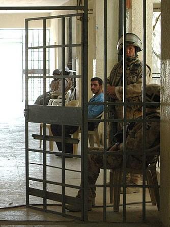 British Soldiers in Corridor, Photo by James Birt