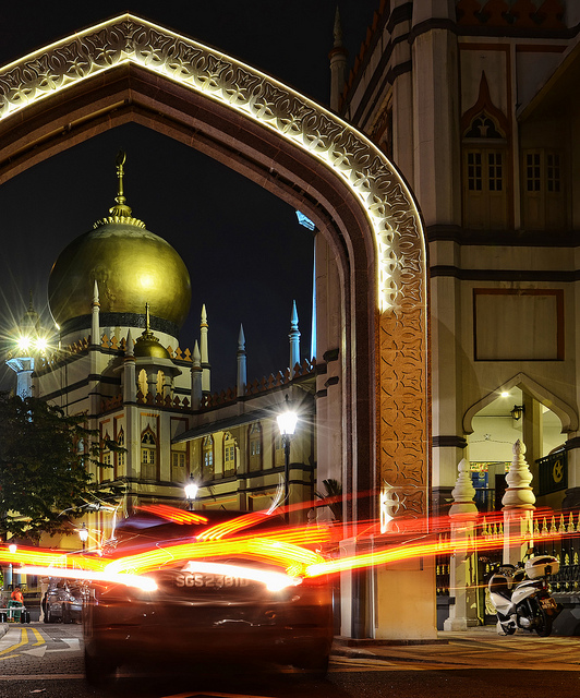 Sultan Mosque, Singapore, Photo by William Cho