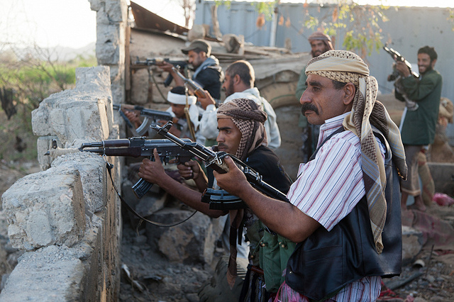 Local Fighters Team with al-Qeada, Abyan Province, Yemen, Photo by Joe Sheffer