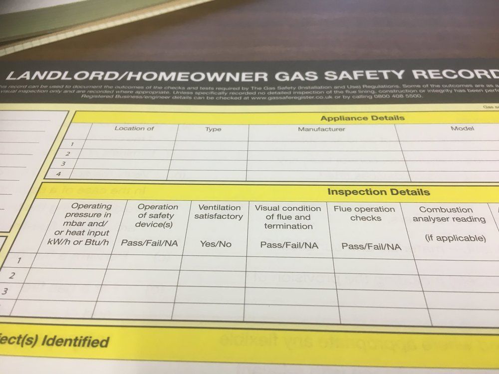 Gas Safety Certificate -