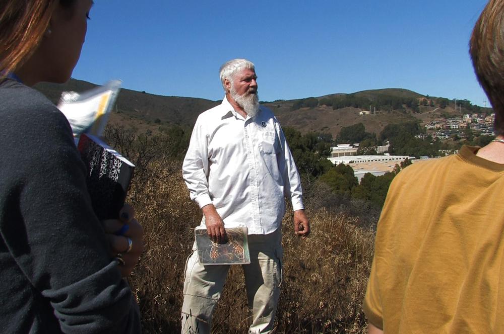 David Schooley leading a hike