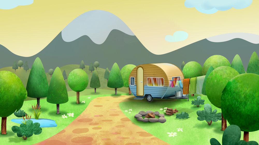 Morning Campsite