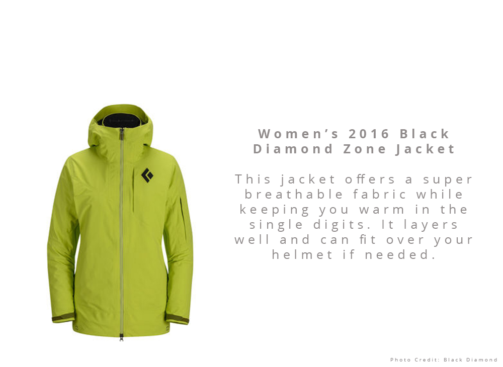 Women's 2016 Black Diamond Zone Jacket