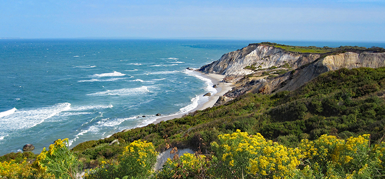 Gay Head Cliffs in Aquinnah, Martha's Vineyard