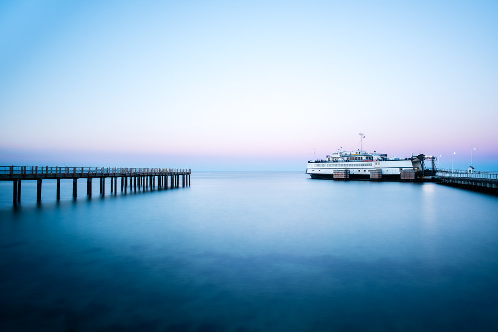 Ferry Martha's Vineyard docked at Oak Bluffs, by Alison Shaw