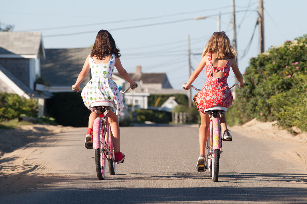 Bike riding in Codfish Park, by Cary Hazlegrove | NantucketStock