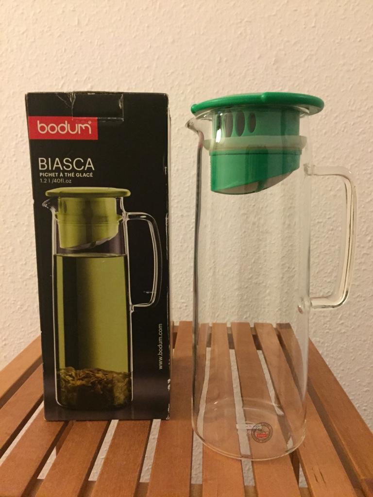SOLD - Bodum BIASCA Glass Iced-Tea Jug. Retail €29.99. Very Good condition in original box, asking €10.