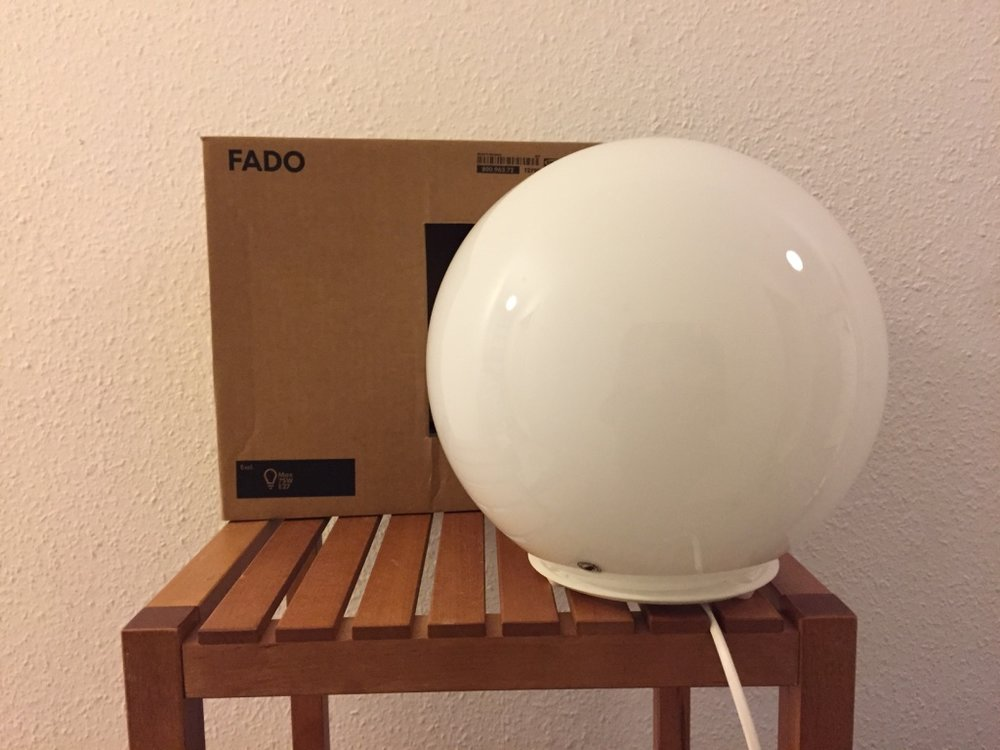 IKEA – FADO table-lamps. Glass Globe with Base. - IKEA – FADO table-lamp. Glass Globe with Base. Classic White. Clean, Good Condition. Retails for €10 – Asking €5.