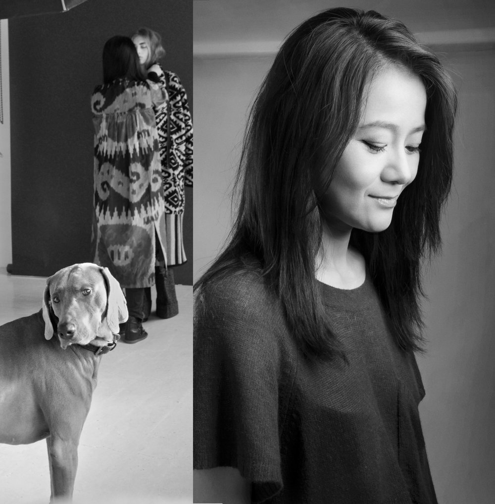 Yujia (  Founder, Design and Creative   Director) and her dog Max