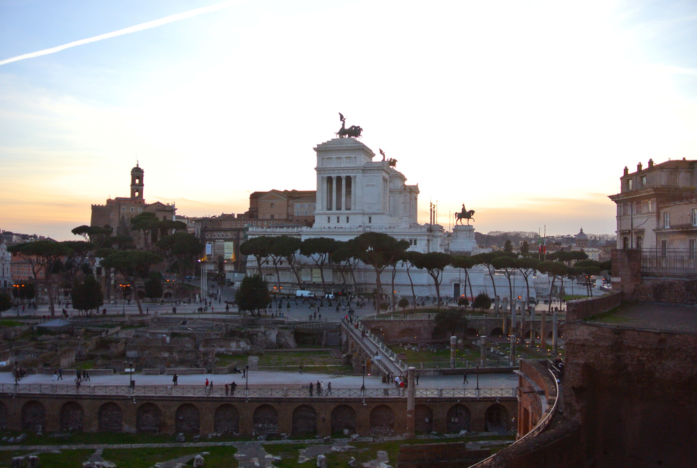 View of Vittorio Emanuele from Trajan's Market