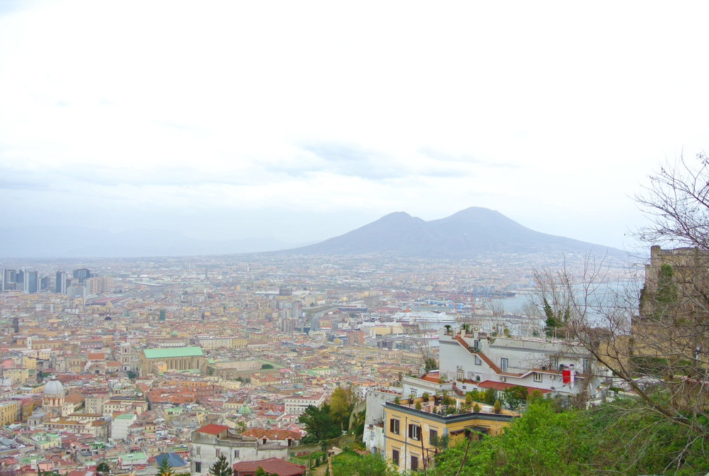 Mt. Vesuvius from Castel Sant'Elmo
