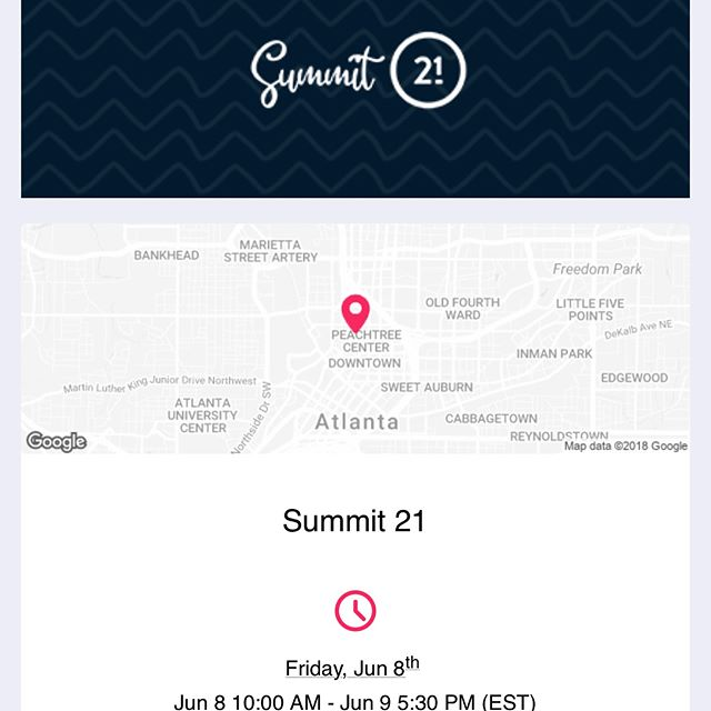 Got my ticket to attend @21ninety 's Summit 21 😌...Looking forward to soaking in the information and inspiration from these creative women.