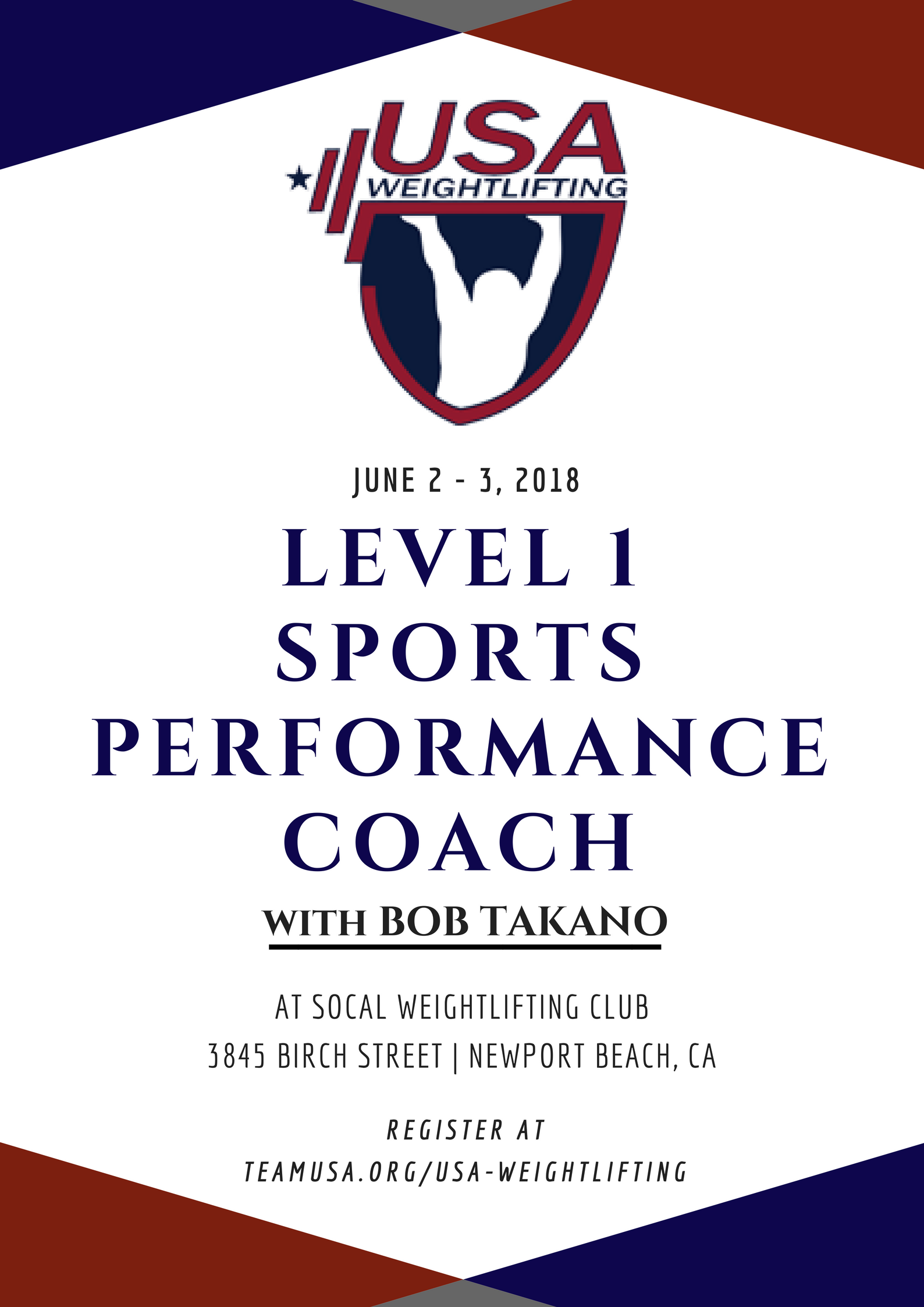 Usaw Level 1 Sports Performance Coaching Course Socal Weightlifting