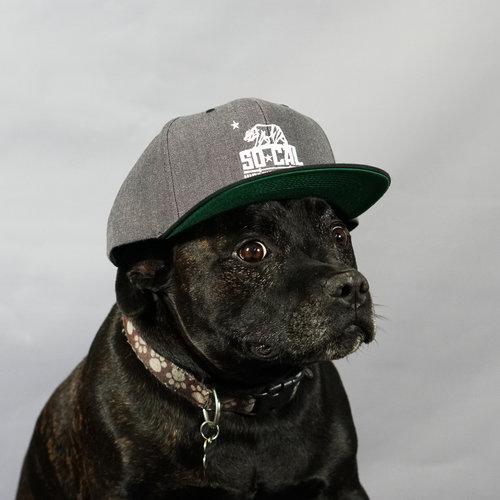 e0d86aa0fa8d14 Snapback SoCal Hat - Grey/Black. Kingston - Grey Hat.jpg