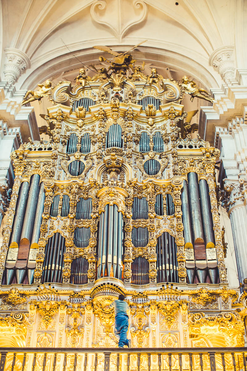 Organ Tuner in Granada Cathedral