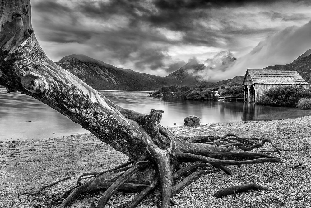 Dove Lake Boat Shed BW (1 of 1).jpg