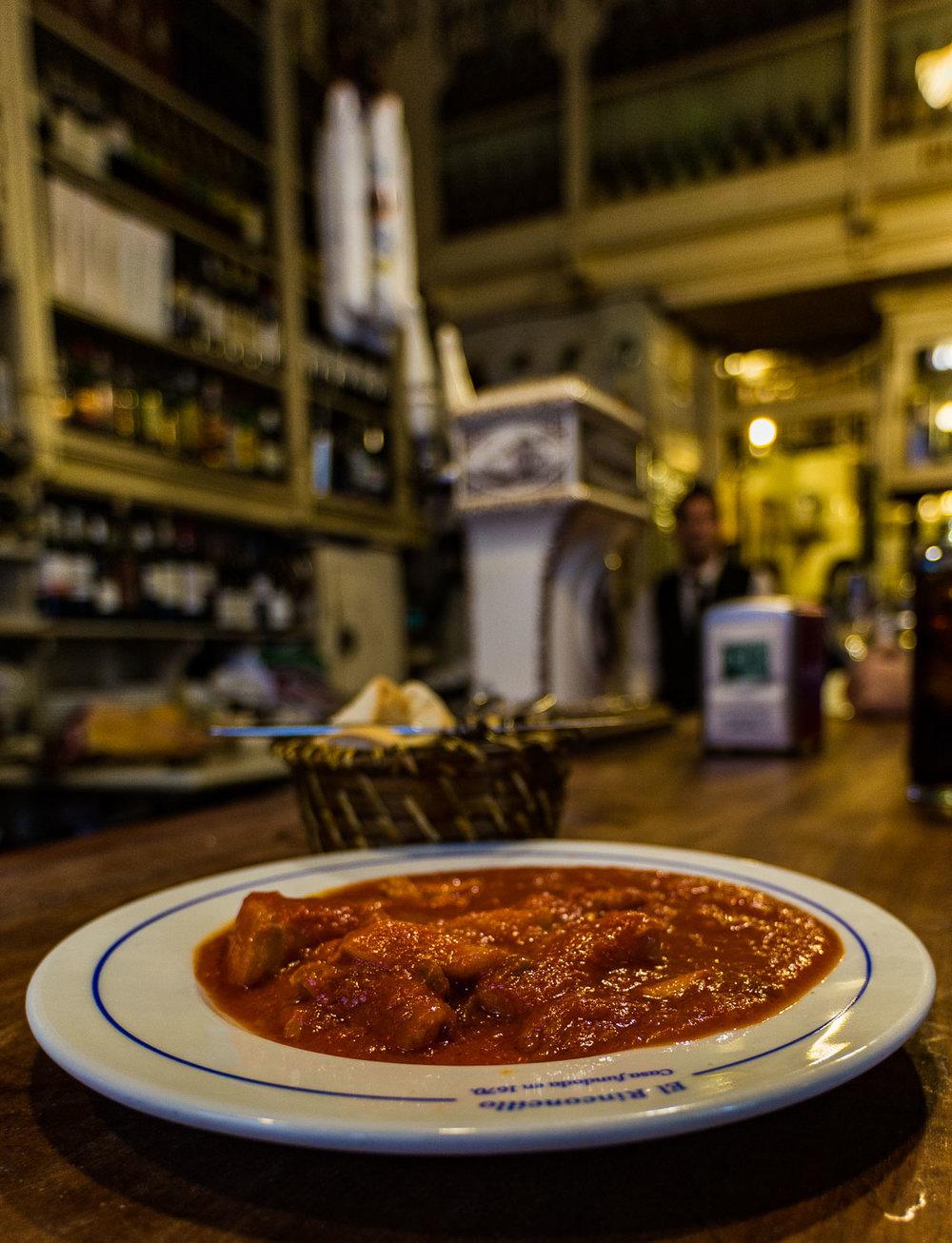 Codfish with Tomato Sauce.