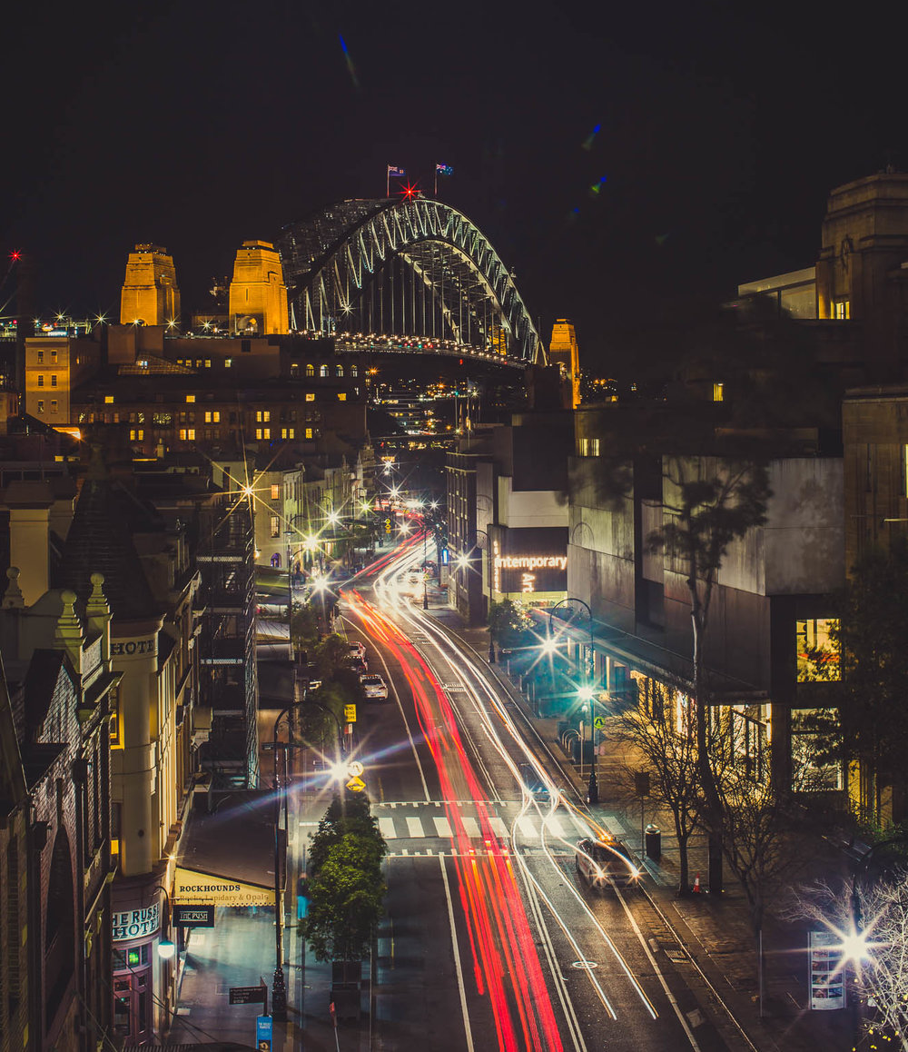 Cahill Expressway overlooking George Street.