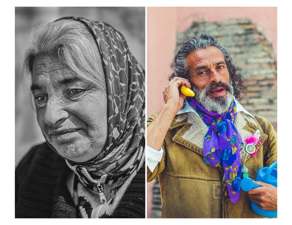 Gypsy beggar & Gypsy Entertainer in Sevilla