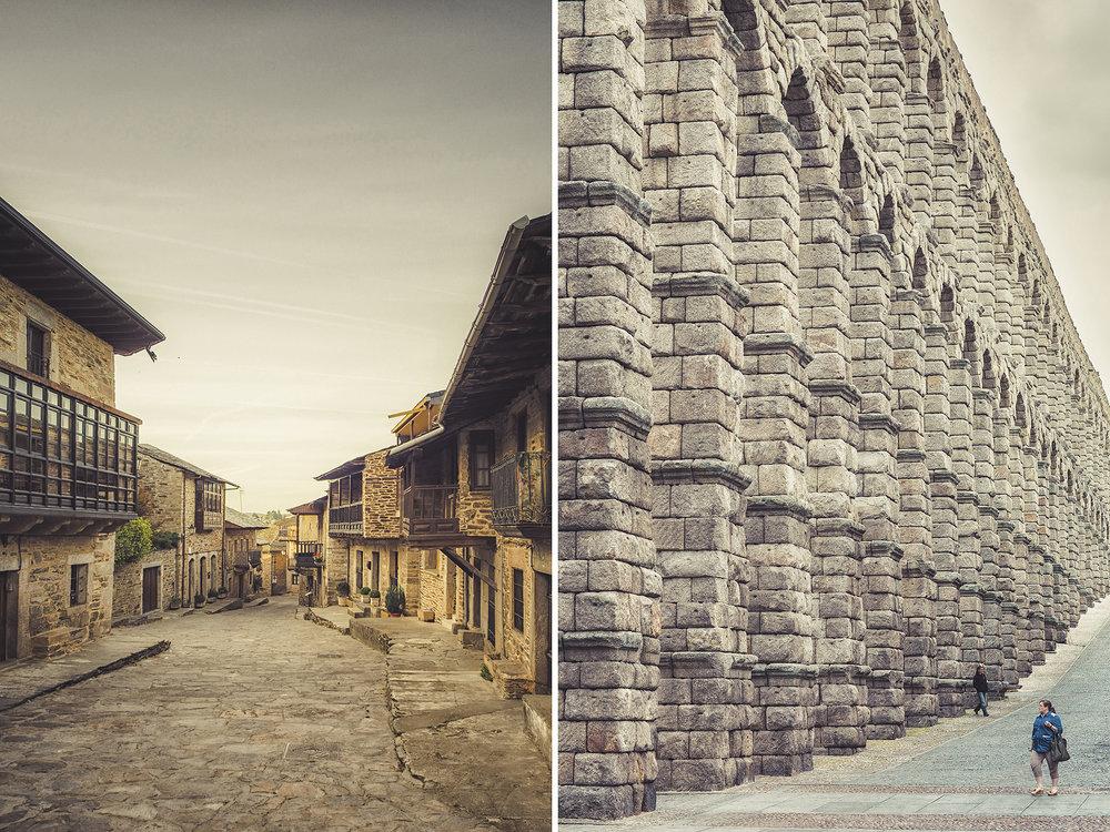 Puebla De Sanabria & Segovia Aquaducts in Spain