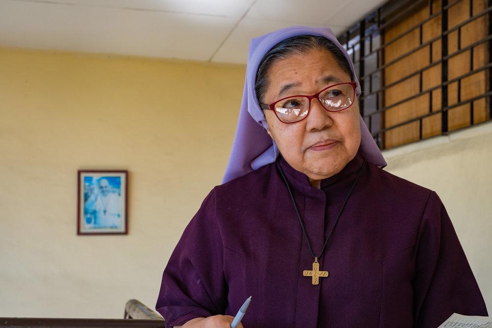 Sister Bernadette at San Juan Nepumuceno Center of Transformative Education