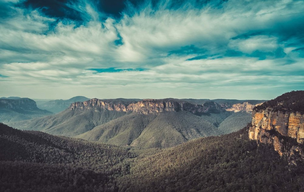 Blue Mountains, NSW - Waterfalls at Wentworth and Leaura followed by Govetts Leap lookout, including sandstone escarpments, sheer cliff walls, the deep canyons of the Grose Valley, and tall waterfalls.Price: $899Approx. 3 Days (Thu- Sat)Inclusions: Accomodation, 2 nights astrophotography, 2 sunsets/dusk, 2 dawn/sunrise & 2 Editing Sessions.Total 15 hours LearningExclusions: Transport and MealsDates: July 3 - 5Participants: 3 - 6Fitness Level: Moderate