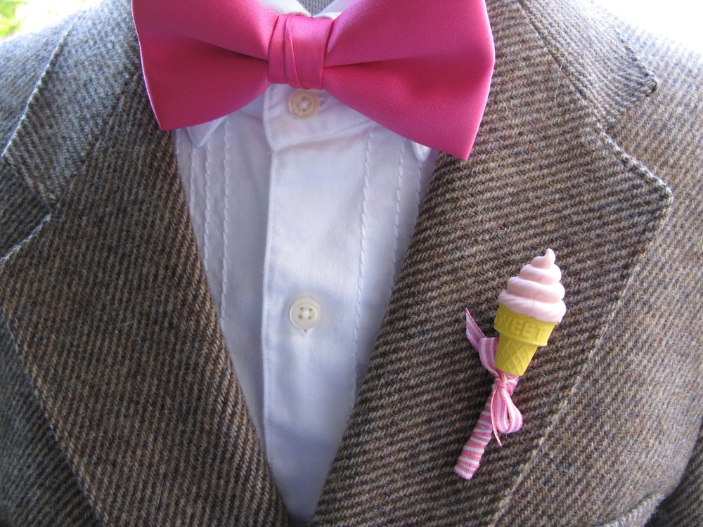 ice cream boutonniere