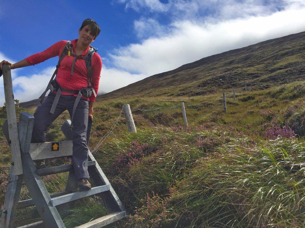 Climbing a stile