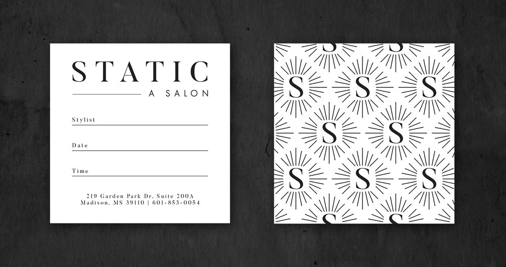 modern upscale square business cards hair salon