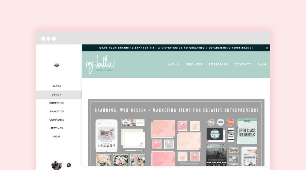 customize design squarespace template