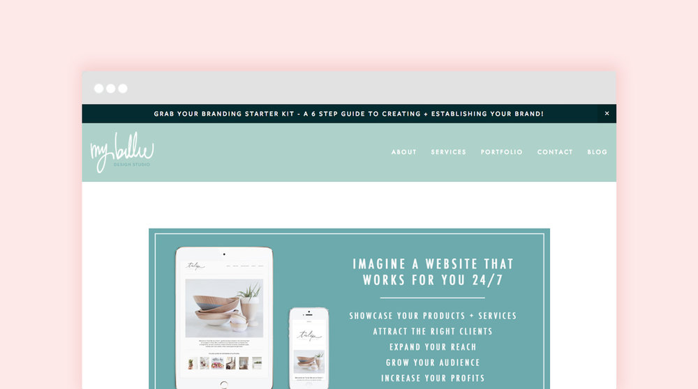 create a website on your own with squarespace