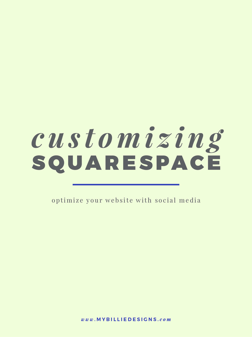 If you're selling a service or product, you probably already know how much potential there is to make more sales if you're getting in front of people on social media, so I especially love how easy Squarespace makes it to 1) lead people to your social media accounts and 2) make it easy for people to share content from your website.