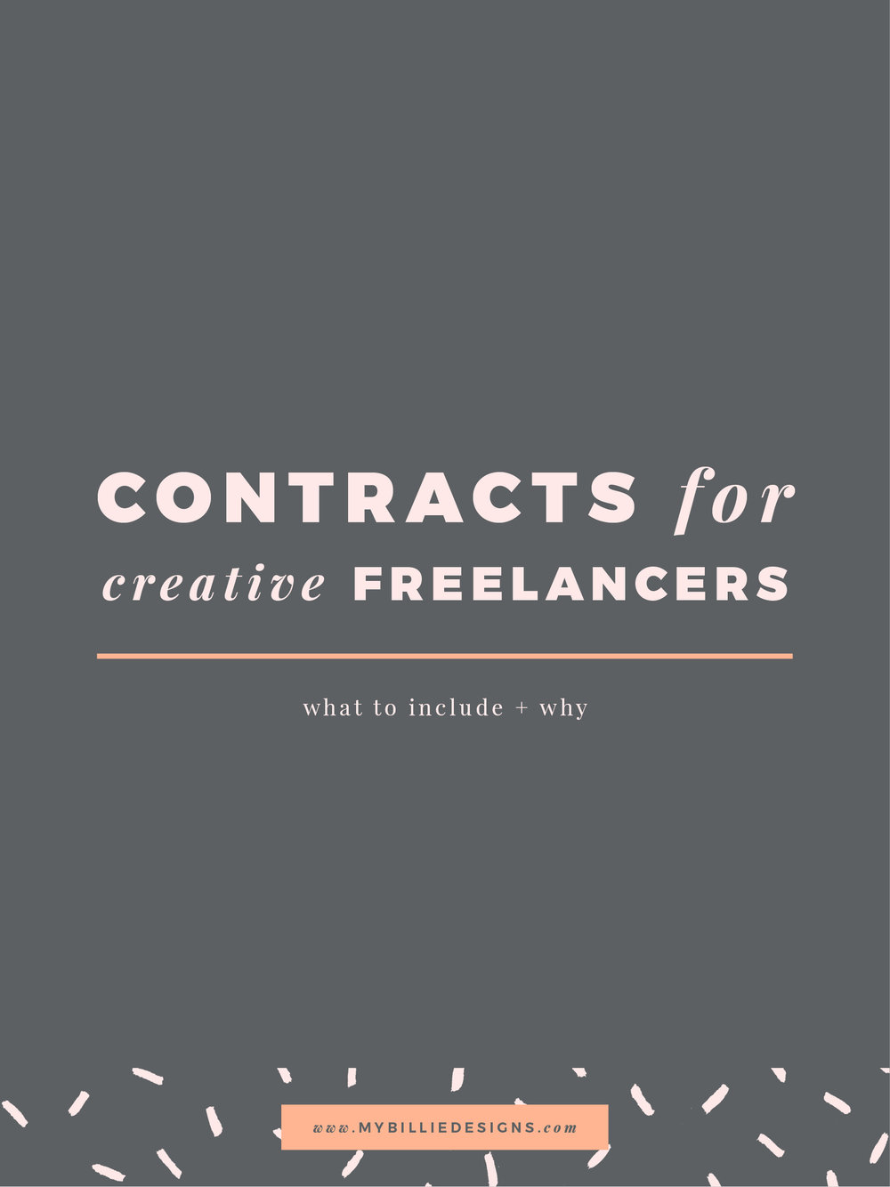 Contracts for Creatives: What to Include and Why. Click through to read →