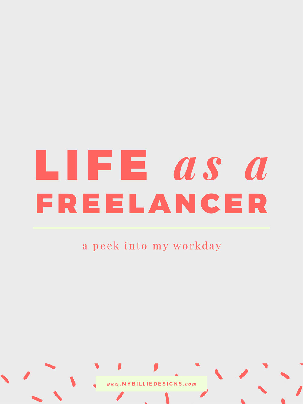Freelance life workday. Click through to read →