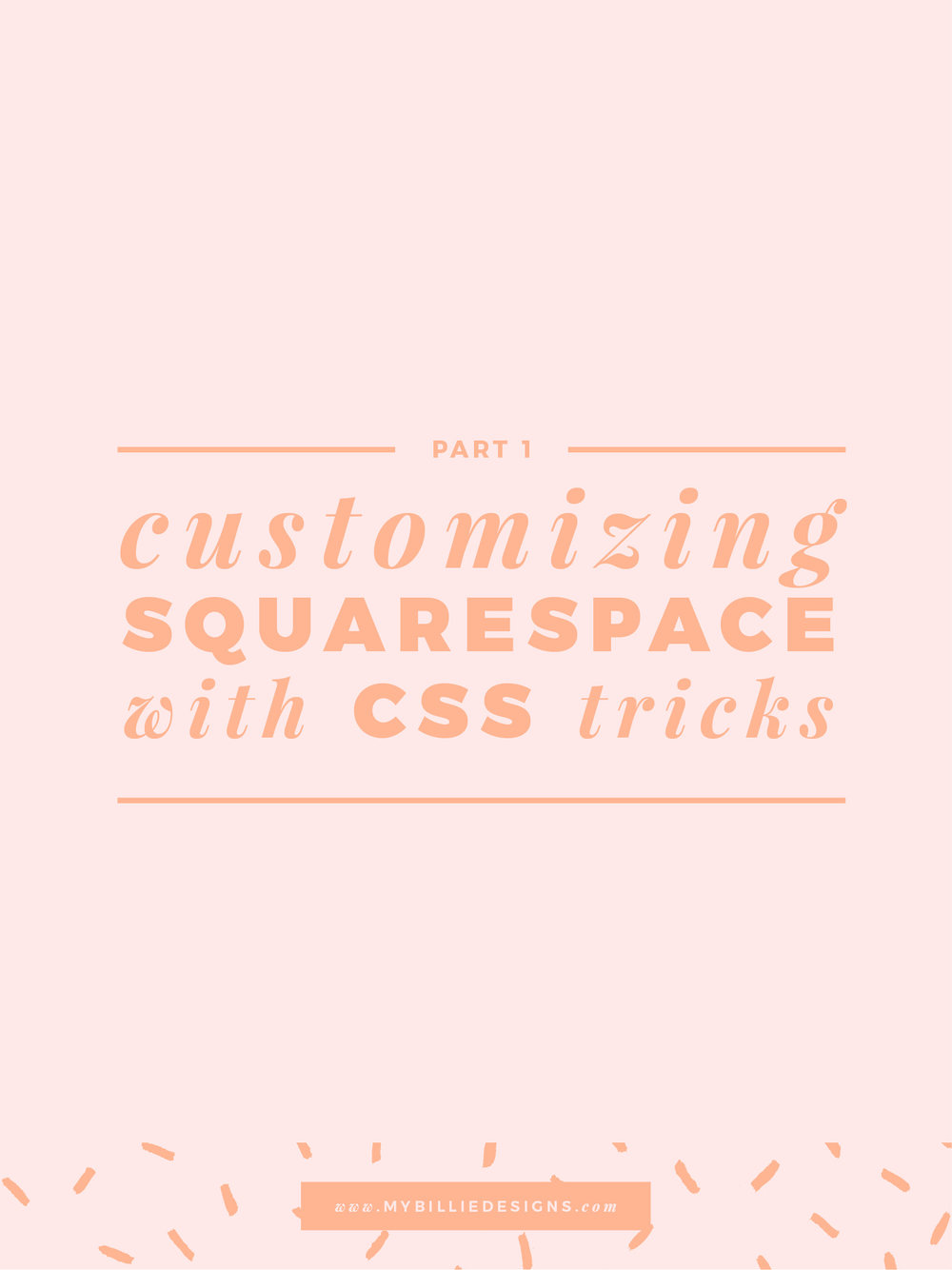 Customize your Squarespace website with simple CSS (Part 1). Click through to read →