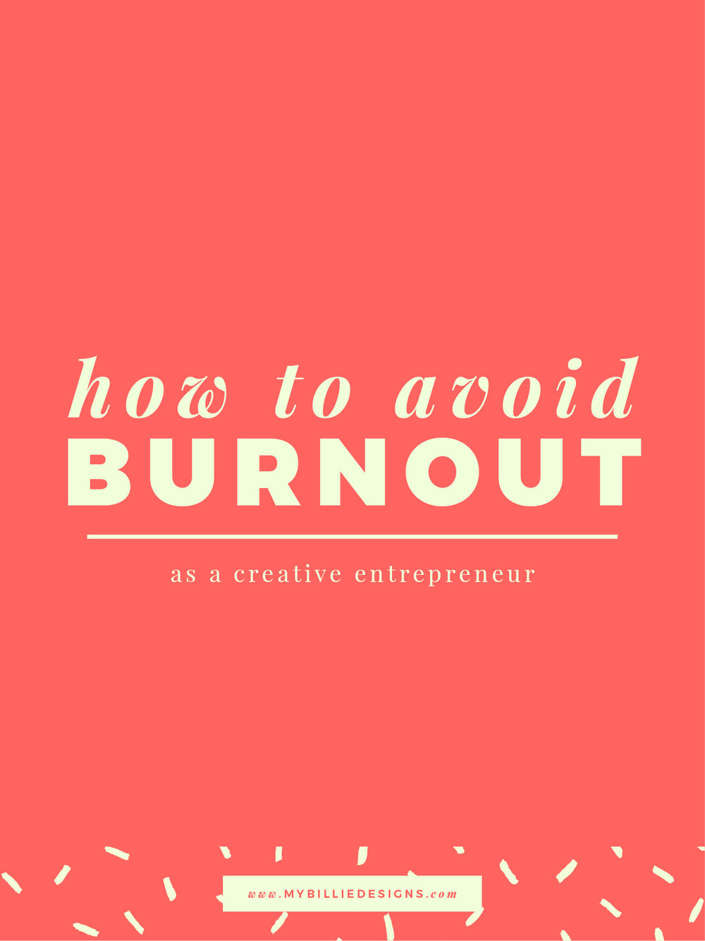Tips and tricks on how to avoid creative entrepreneur and small business burnout!