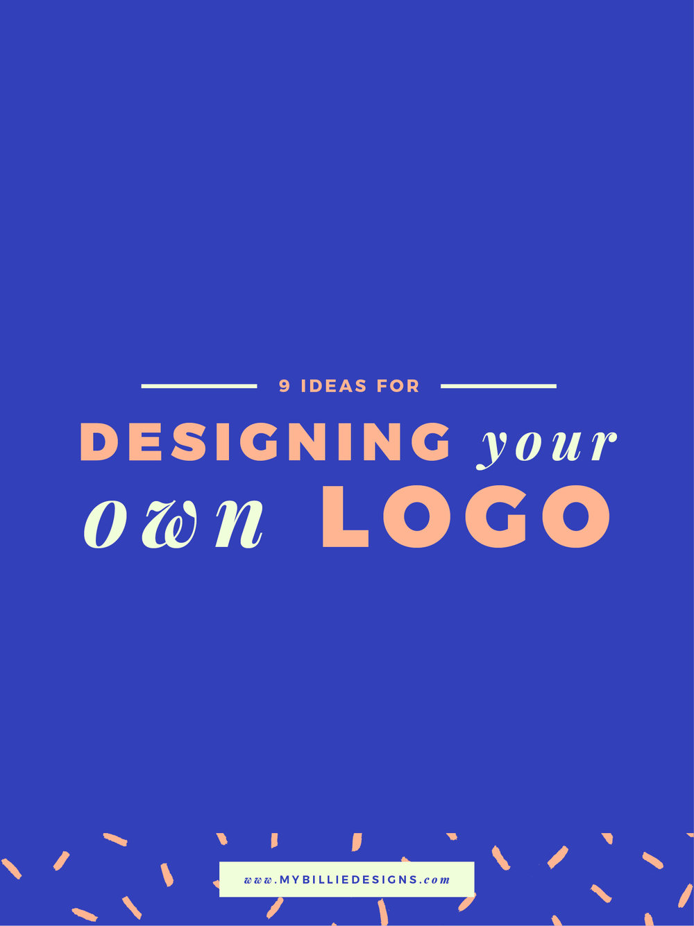 9 tips for designing your own logo. Click through to read →